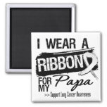 Papa Lung Cancer Ribbon Magnet