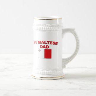 Papá maltés #1 tazas