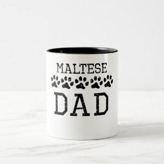 Papá maltés (apenado) taza de dos tonos
