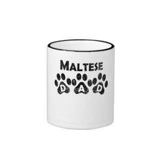 Papá maltés taza de dos colores