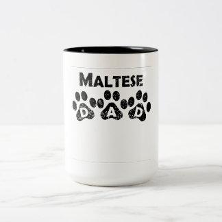 Papá maltés taza de dos tonos