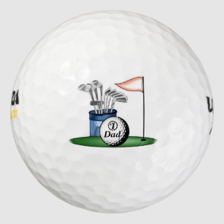 Papá/mamá/hijo del número uno… Pelota de golf Pack De Pelotas De Golf
