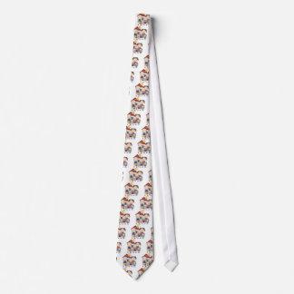 Papá, mamá, muchacho grande, chica del MED, pequeñ Corbatas Personalizadas