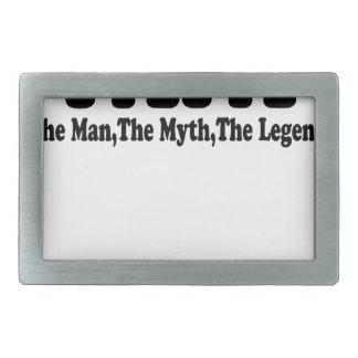 Papa Man Myth Legend t-shirt.png Rectangular Belt Buckle
