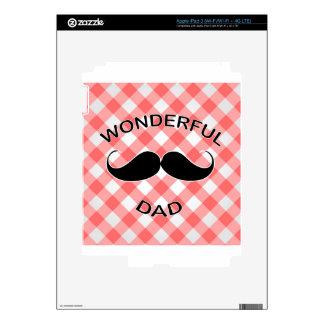 Papá maravilloso pegatinas skins para iPad 3