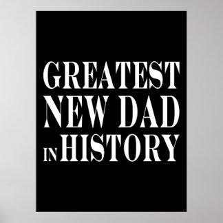 Papá más grande de los mejores nuevos papás el nue posters