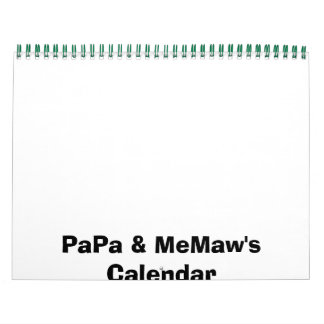 PaPa & MeMaw's Calendar