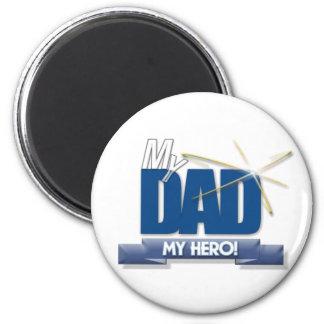 Papá mi héroe - regalos del día de padre de la div imán redondo 5 cm
