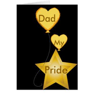 Papá mi Orgullo-Personalizar Tarjeta De Felicitación