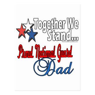 Papá militar orgulloso postal