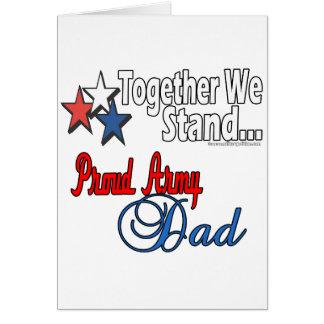 Papá militar orgulloso tarjeta de felicitación