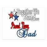 Papá militar orgulloso tarjeta postal