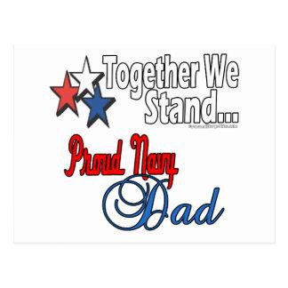 Papá militar orgulloso tarjetas postales