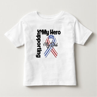 Papá - militar que apoya a mi héroe playera de bebé