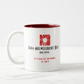 Papa Millwellbucks' Best - Cheap, Hot and Arousing Two-Tone Coffee Mug