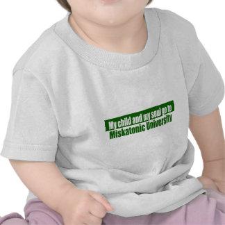 Papá miskatonic de la mamá de la universidad de camisetas