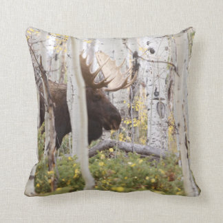 Papa Moose in the Aspens Cabin Pillow