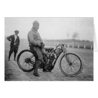Papa Motorcycle Racer, 1915 Felicitacion