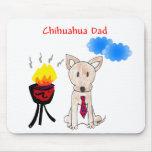 Papá Mousepad de la chihuahua Tapetes De Ratones