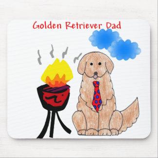 Papá Mousepad del golden retriever Alfombrillas De Raton