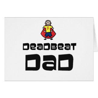 Papá muerto del golpe tarjeta de felicitación