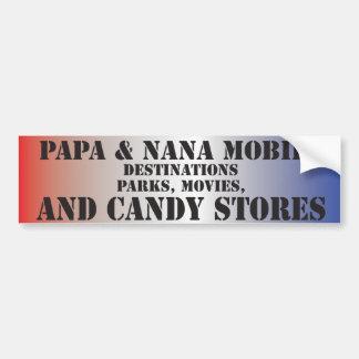 Papa Nana Bumper Sticker