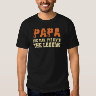 Papá (Naranja-Beige) Playeras
