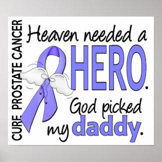Papá necesario del cáncer de próstata del héroe póster
