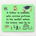 papá ningún dinero tapete de raton