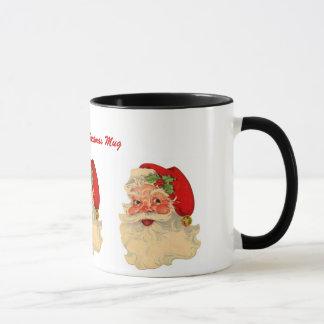 Papá Noel alegre clásico hace frente a nombre