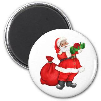 Papá Noel alegre Imanes