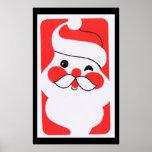 Papá Noel alegre Posters