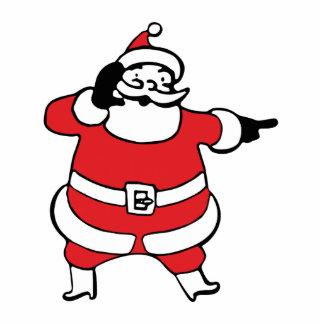 Papá Noel alegre que llama su reno, parte 3 Esculturas Fotográficas