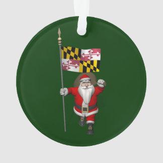 Papá Noel alegre que visita Maryland