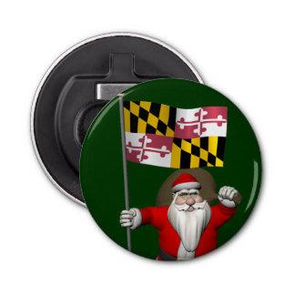 Papá Noel alegre que visita Maryland Abrebotellas Redondo