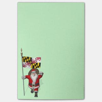 Papá Noel alegre que visita Maryland Notas Post-it®
