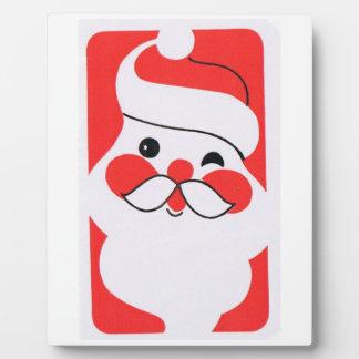 Papá Noel alegre retro Placas De Plastico