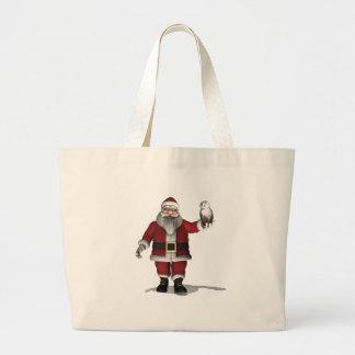 Papá Noel ama el búho Nevado Bolsas