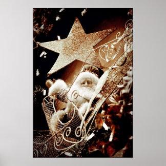 Papá Noel antiguo Póster
