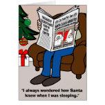 Papá Noel arrestó la tarjeta de Navidad