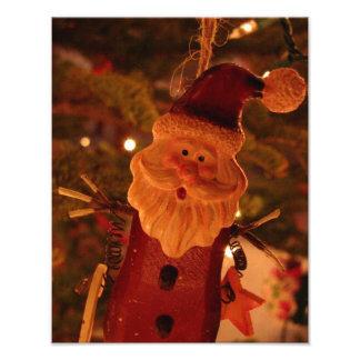 Papá Noel asustado Impresion Fotografica
