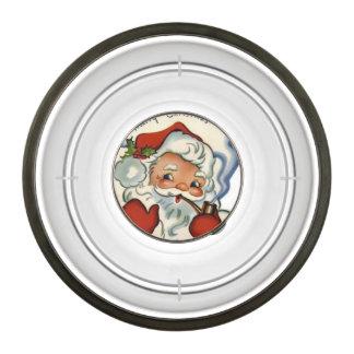 Papá Noel, auténtico, vintage, reproducción, feliz Cuenco Para Mascotas