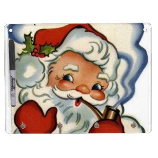 Papá Noel, auténtico, vintage, reproducción, feliz Pizarras Blancas De Calidad