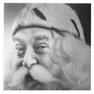 Papá Noel Azulejo Cuadrado Grande