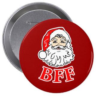 ¡Papá Noel BFF Bestie! Pin Redondo 10 Cm