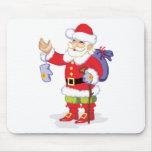 Papá Noel clásico Alfombrilla De Ratones