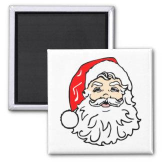 Papá Noel clásico Imán Cuadrado