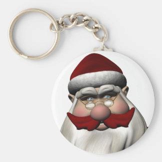 Papá Noel con el bigote rojo Llaveros Personalizados
