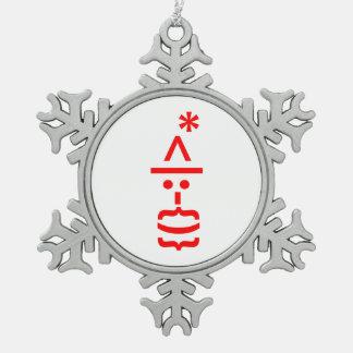Papá Noel con el Emoticon del smiley del navidad Adornos