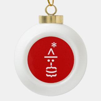 Papá Noel con el Emoticon del smiley del navidad Adorno
